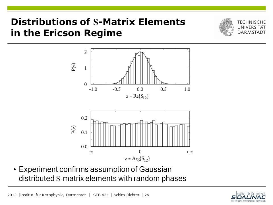Distributions of S-Matrix Elements in the Ericson Regime