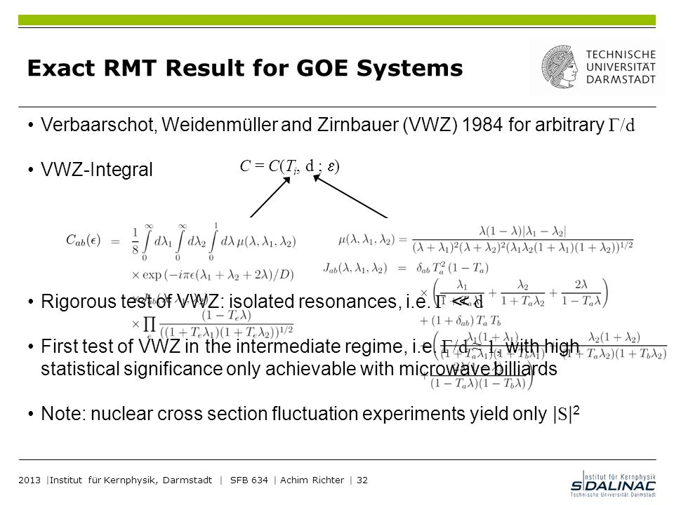 Exact RMT Result for GOE Systems