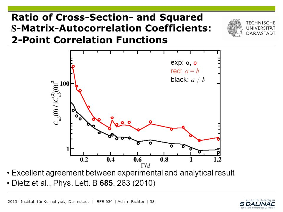 Ratio of Cross-Section- and Squared S-Matrix-Autocorrelation Coefficients: 2-Point Correlation Functions