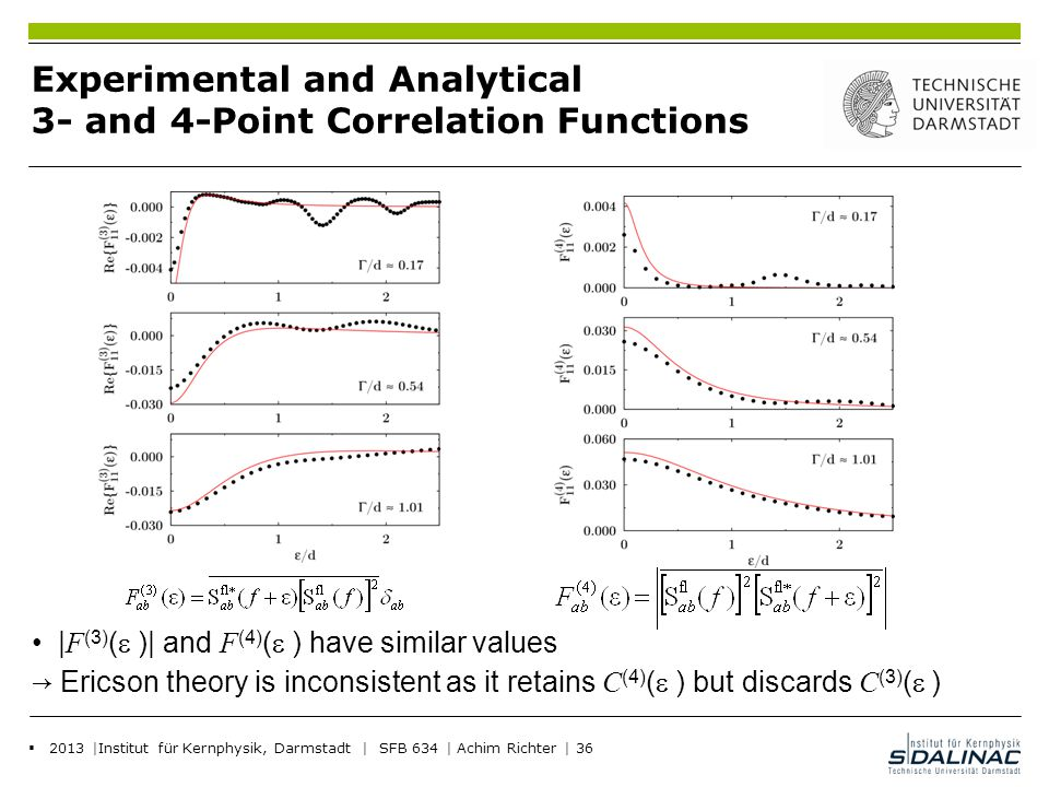 Experimental and Analytical 3- and 4-Point Correlation Functions