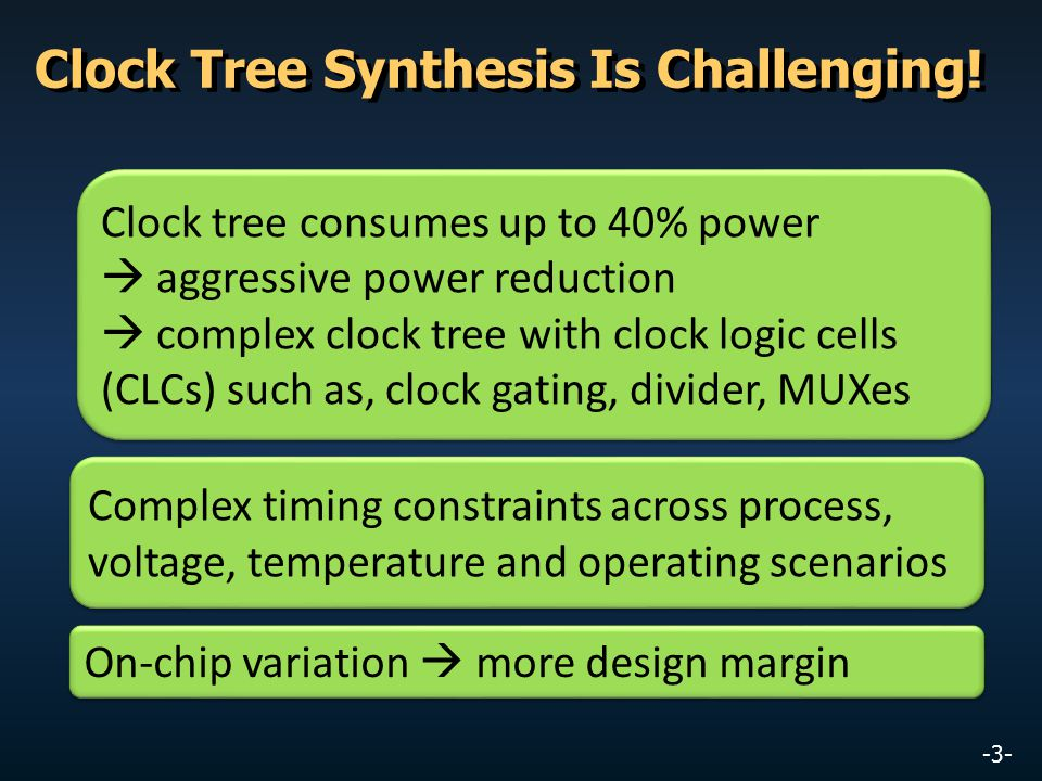 Clock Tree Synthesis Is Challenging!