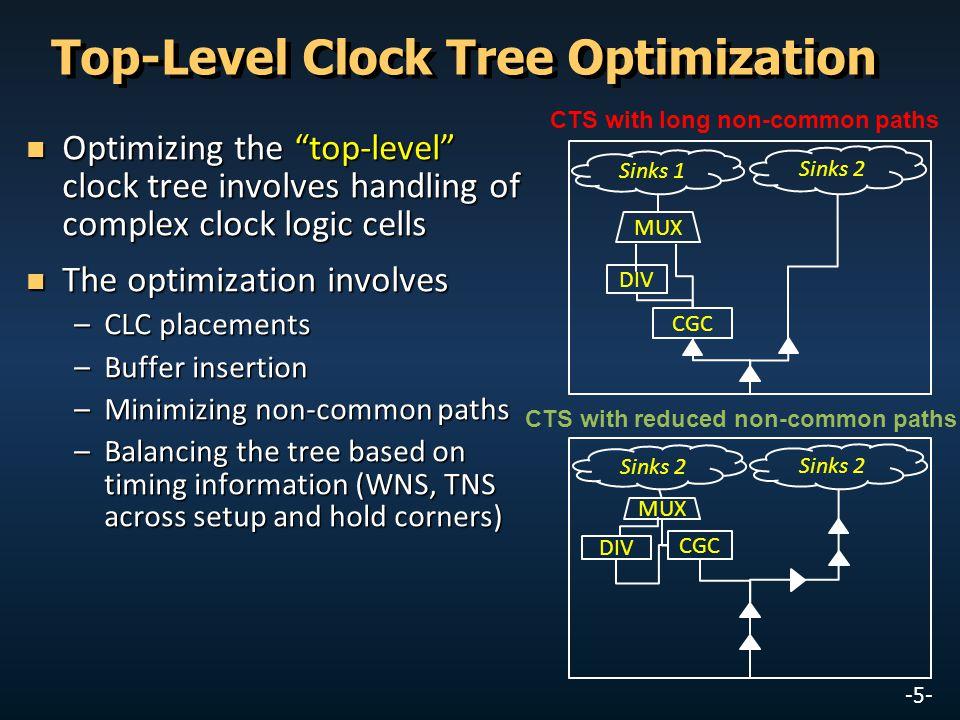 Top-Level Clock Tree Optimization