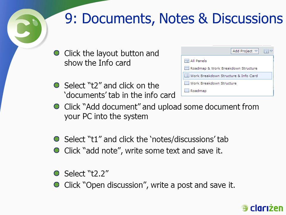 9: Documents, Notes & Discussions