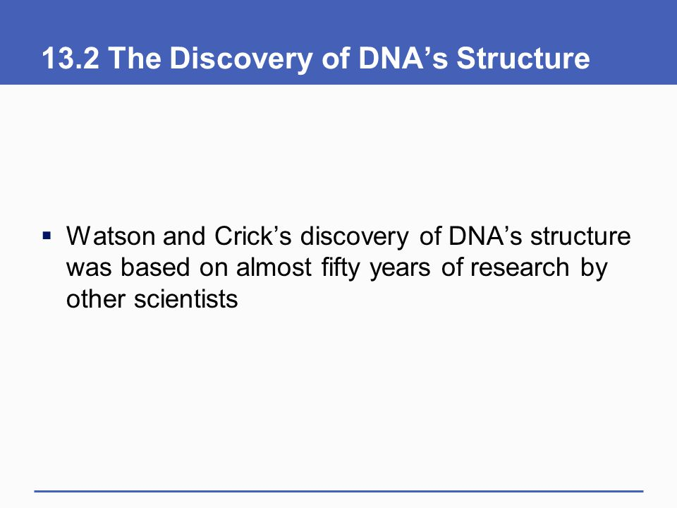 13.2 The Discovery of DNA's Structure