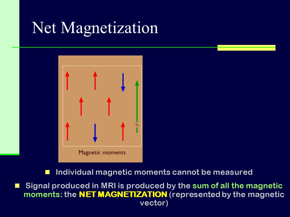 Individual magnetic moments cannot be measured