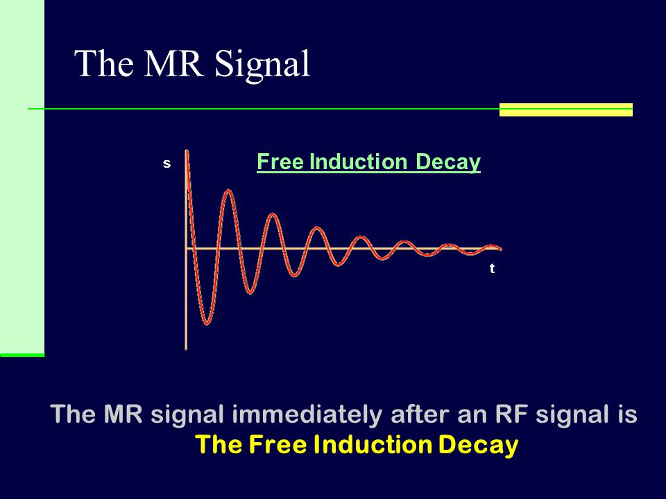 The MR Signal Free Induction Decay. s. t.