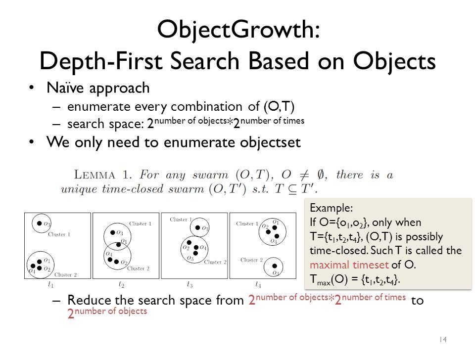 ObjectGrowth: Depth-First Search Based on Objects