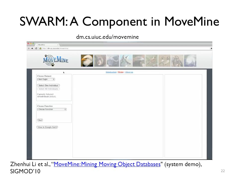 SWARM: A Component in MoveMine