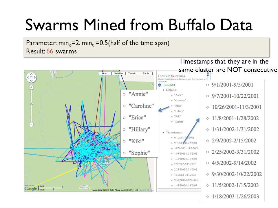 Swarms Mined from Buffalo Data
