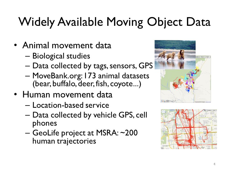 Widely Available Moving Object Data
