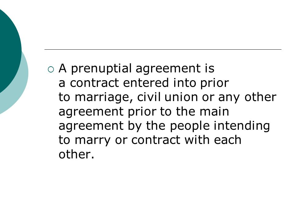 Prenuptial Agreement. - Ppt Download