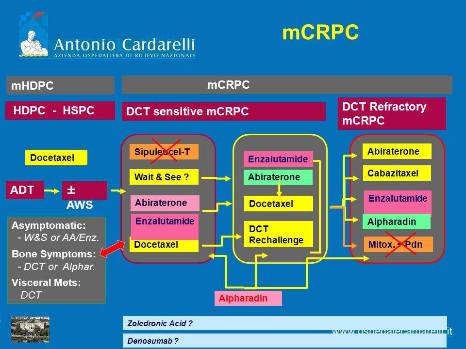 mCRPC mHDPC mCRPC DCT Refractory mCRPC HDPC - HSPC DCT sensitive mCRPC