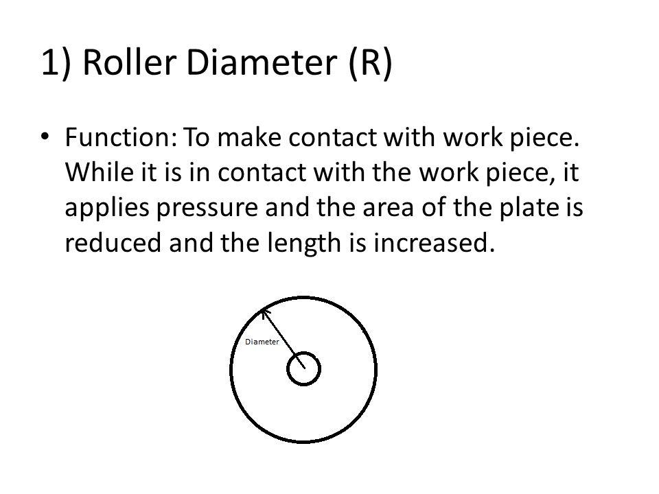 1) Roller Diameter (R)