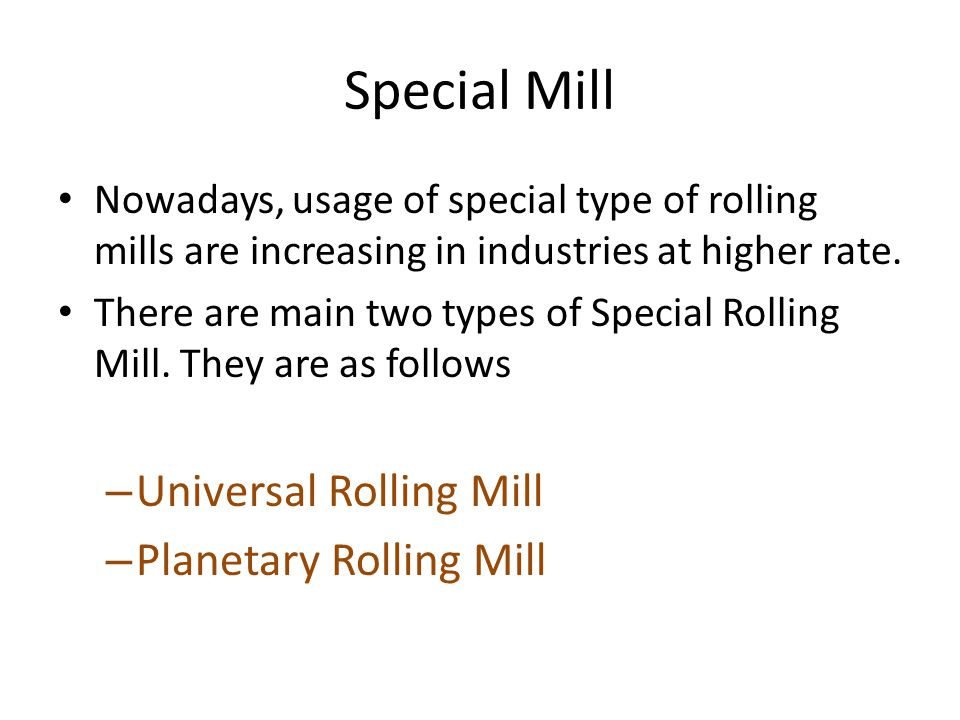 Special Mill Universal Rolling Mill Planetary Rolling Mill