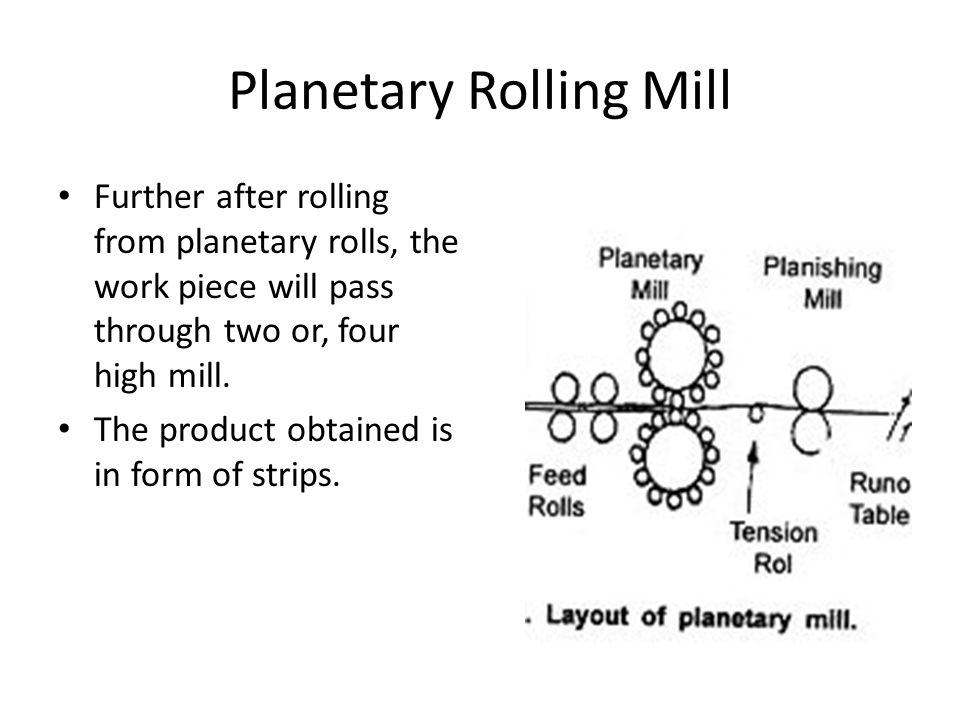 Planetary Rolling Mill