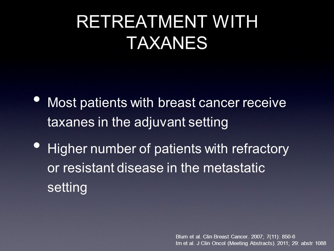 RETREATMENT WITH TAXANES
