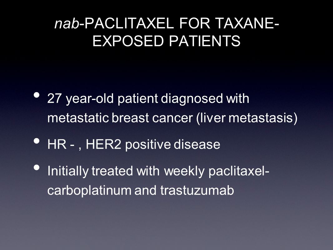 Paclitaxel metastatic breast cancer