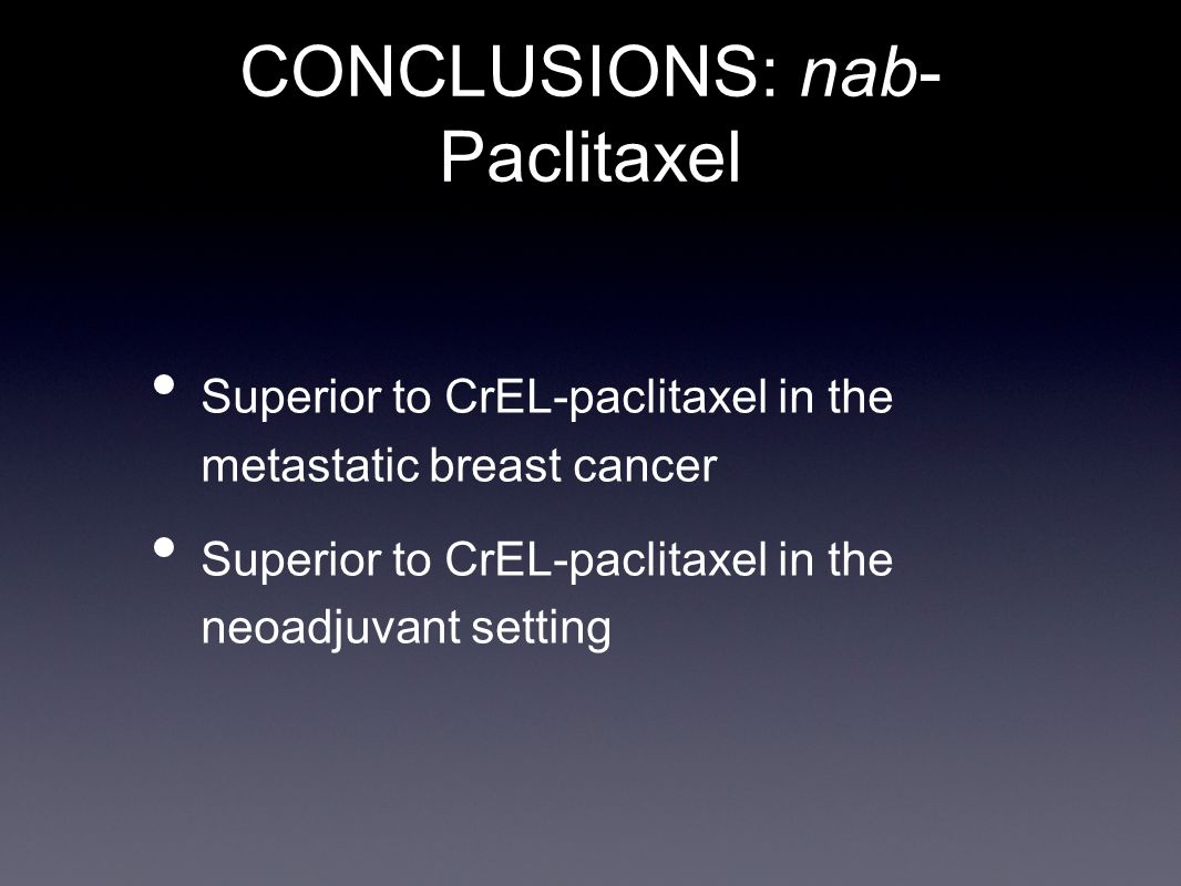 CONCLUSIONS: nab-Paclitaxel