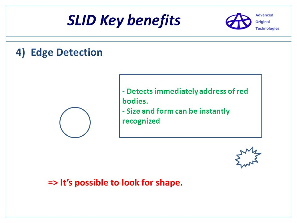 SLID Key benefits 4) Edge Detection