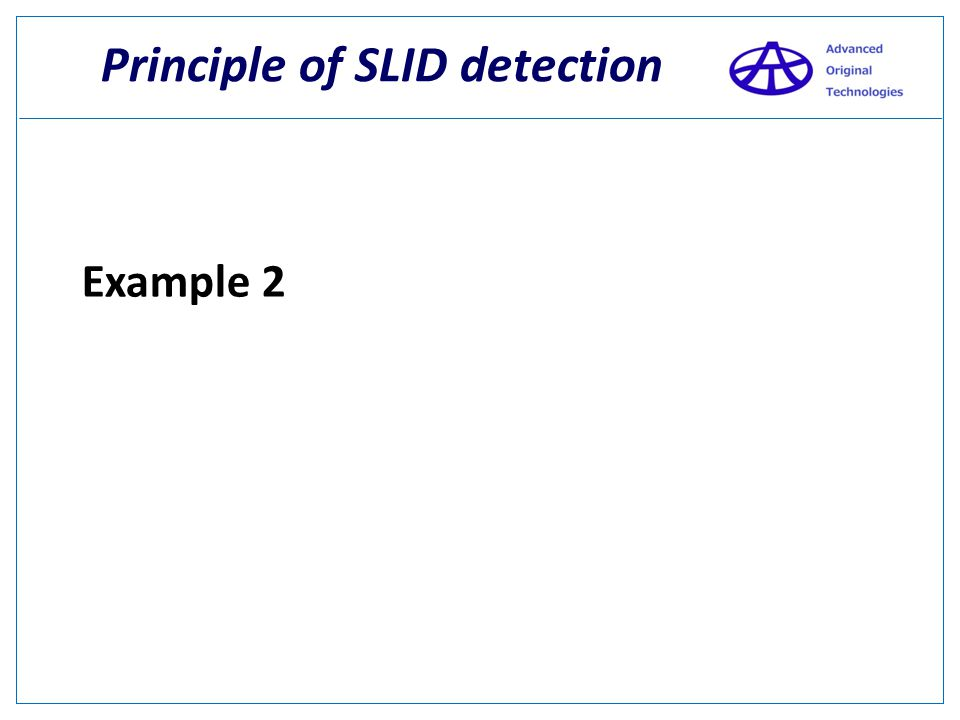 Principle of SLID detection