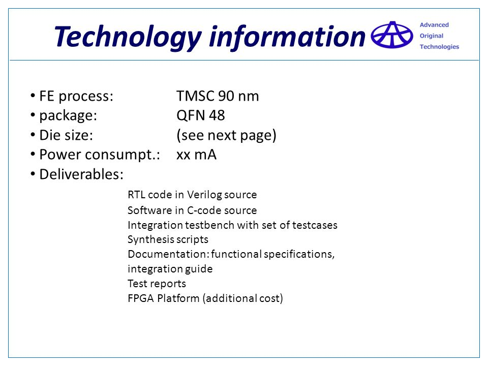 Technology information