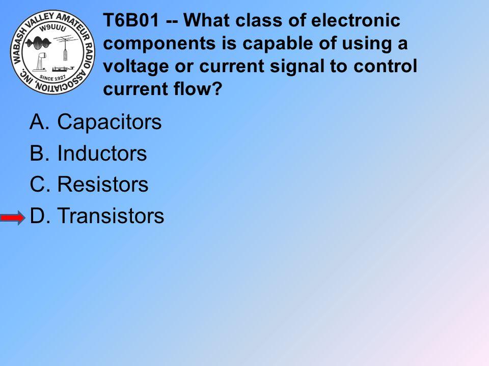 Capacitors Inductors Resistors Transistors