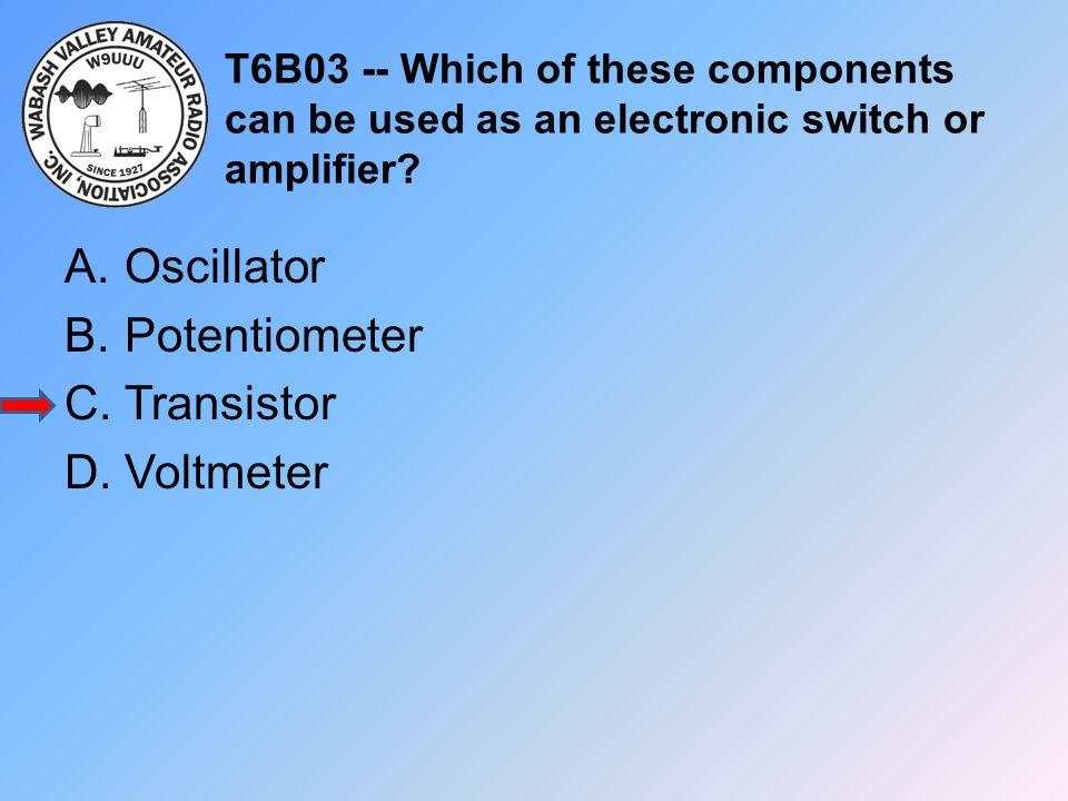 Oscillator Potentiometer Transistor Voltmeter