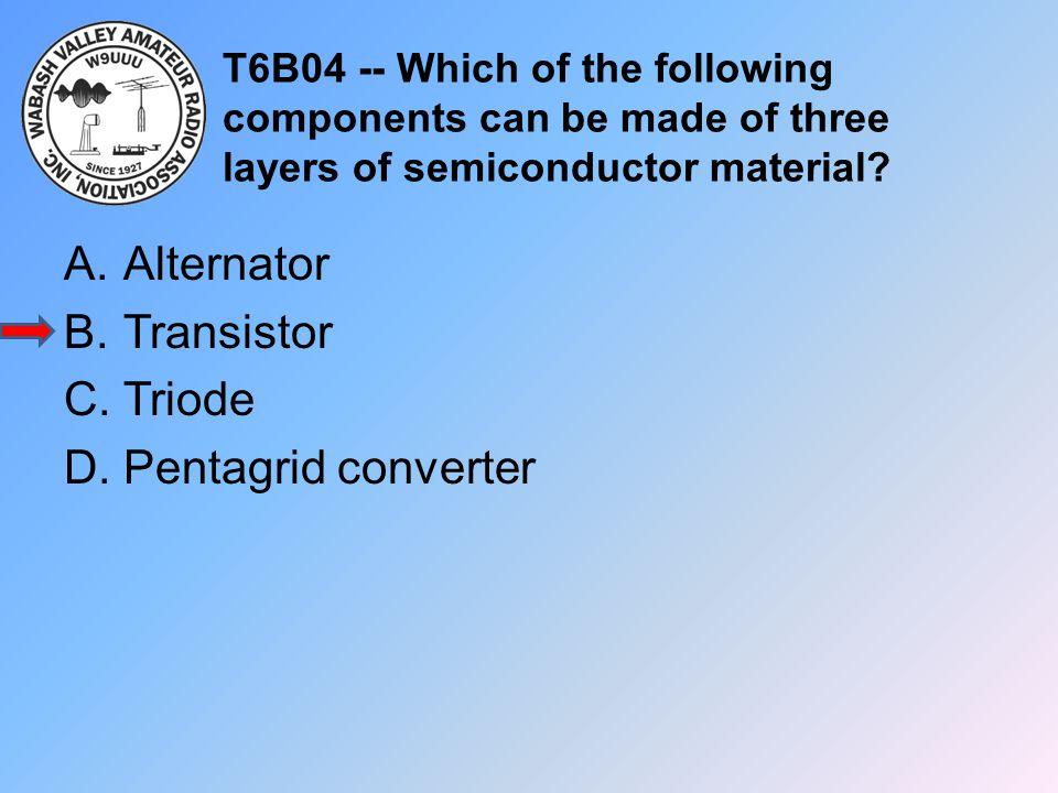 Alternator Transistor Triode Pentagrid converter