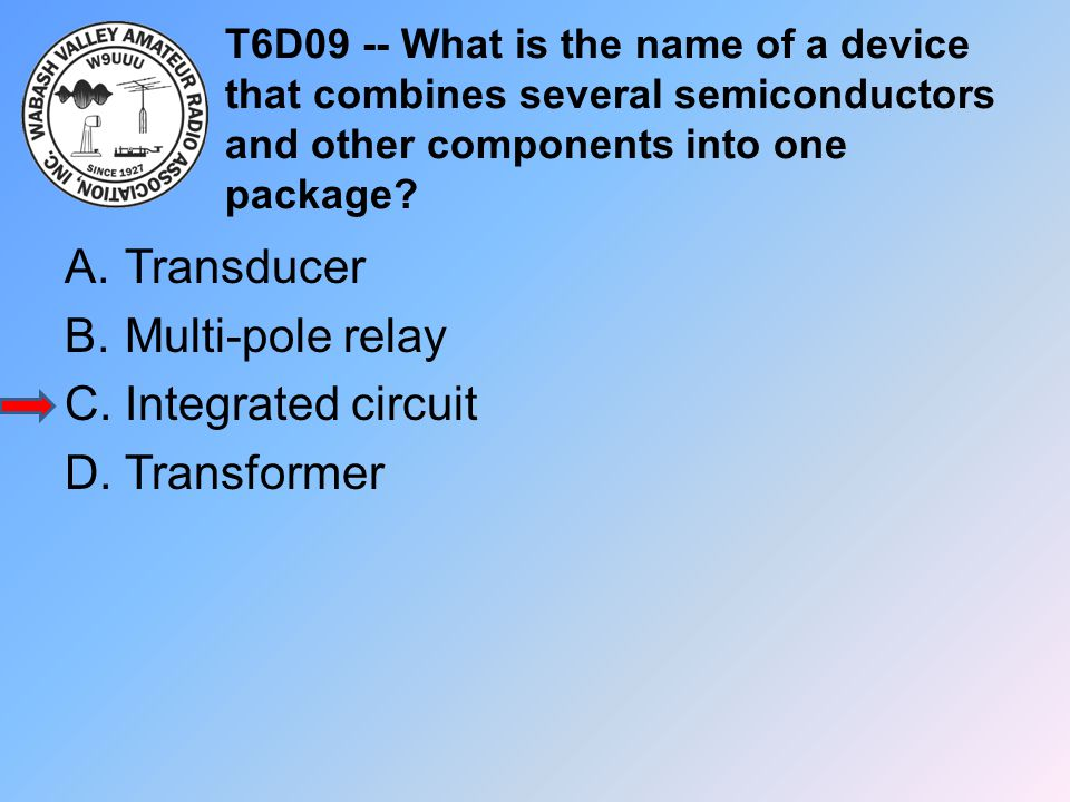 Transducer Multi-pole relay Integrated circuit Transformer