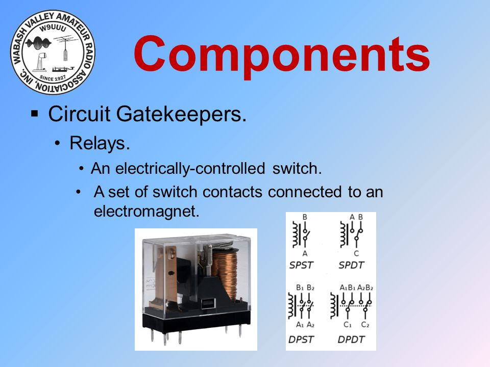 Components Circuit Gatekeepers. Relays.