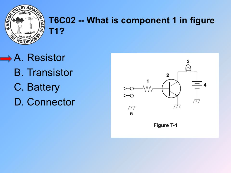 T6C02 -- What is component 1 in figure T1