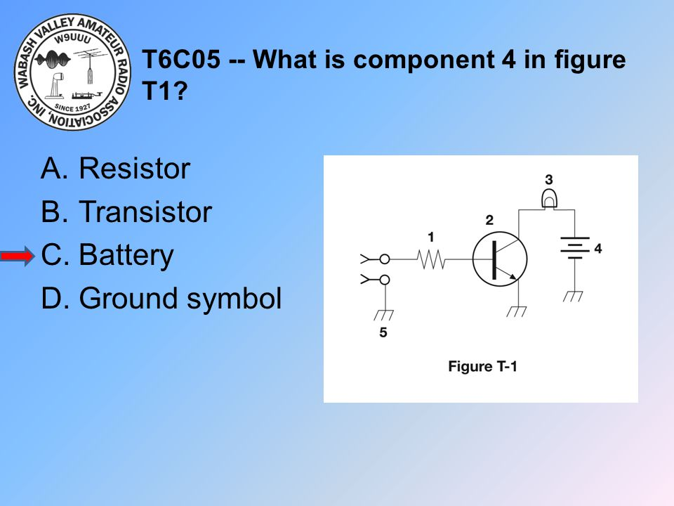 T6C05 -- What is component 4 in figure T1
