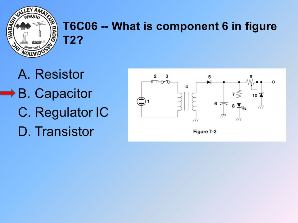 T6C06 -- What is component 6 in figure T2