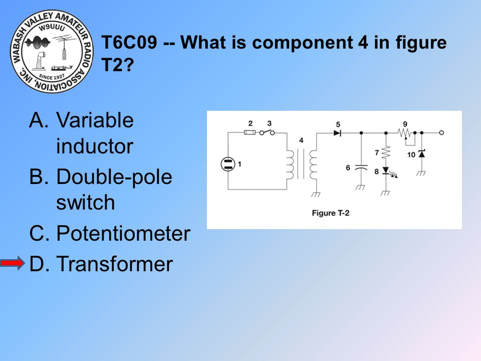 T6C09 -- What is component 4 in figure T2