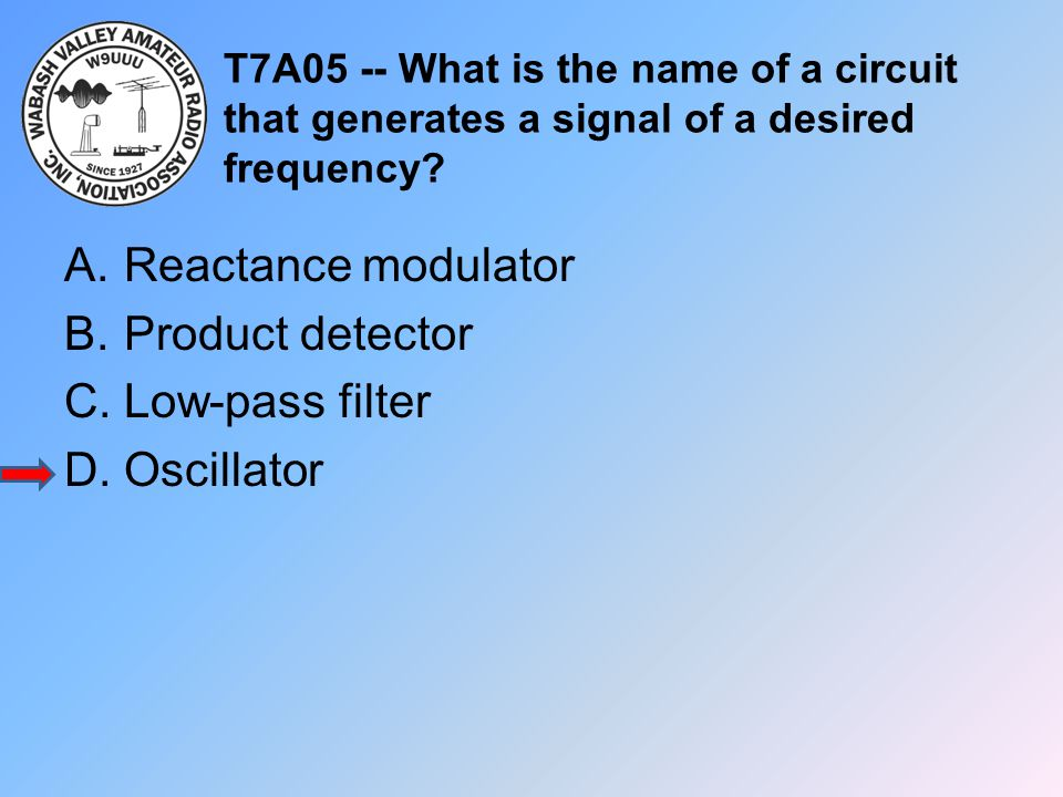 Reactance modulator Product detector Low-pass filter Oscillator