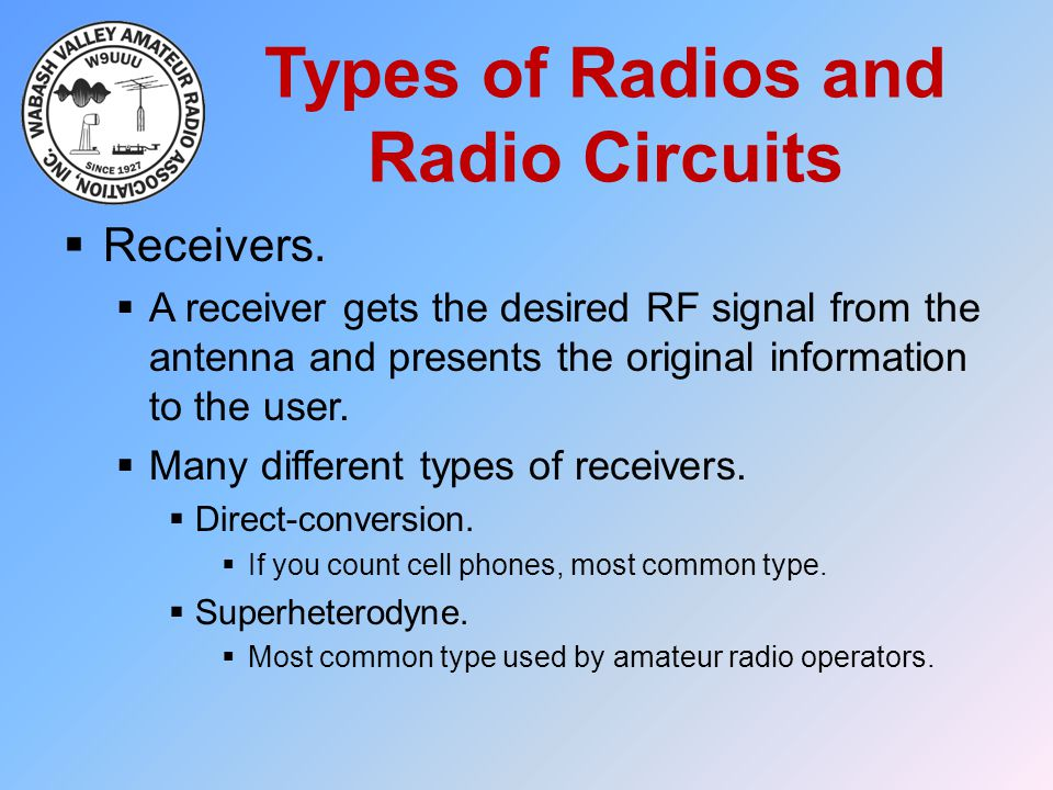 Types of Radios and Radio Circuits
