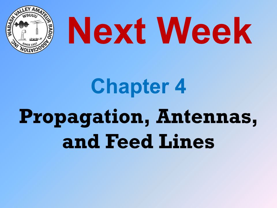 Chapter 4 Propagation, Antennas, and Feed Lines