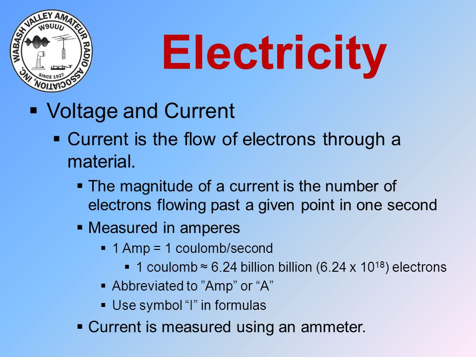 Electricity Voltage and Current