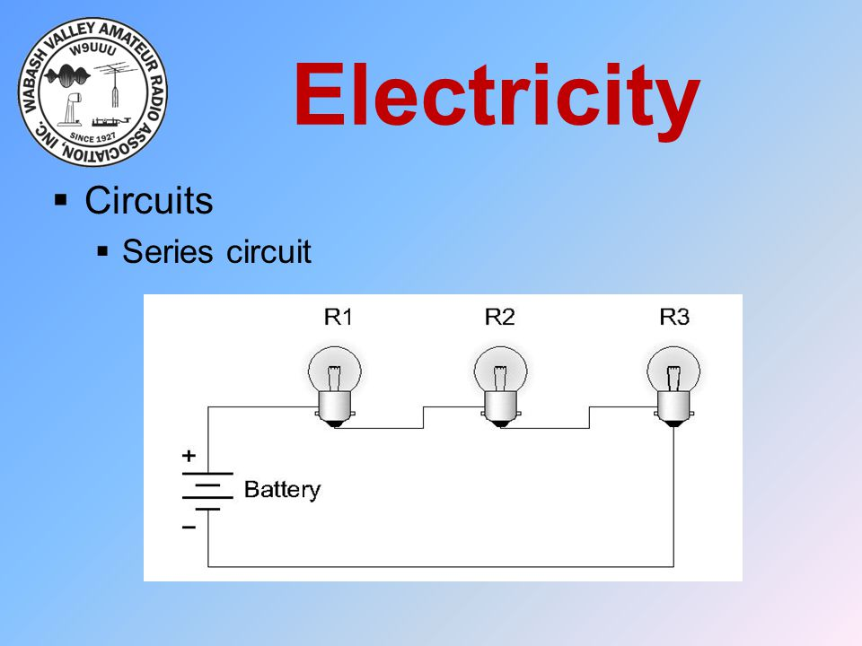 Electricity Circuits Series circuit