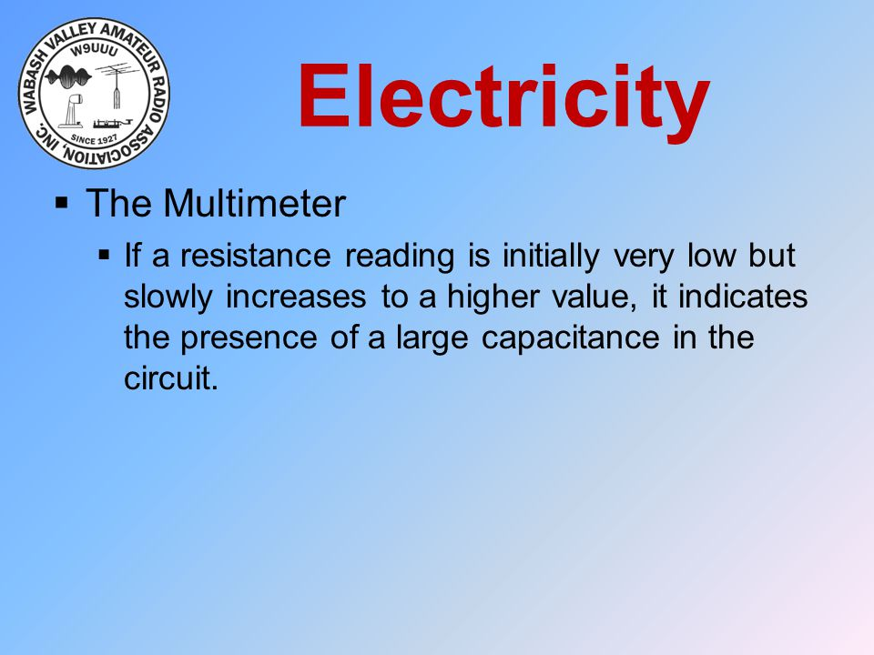 Electricity The Multimeter