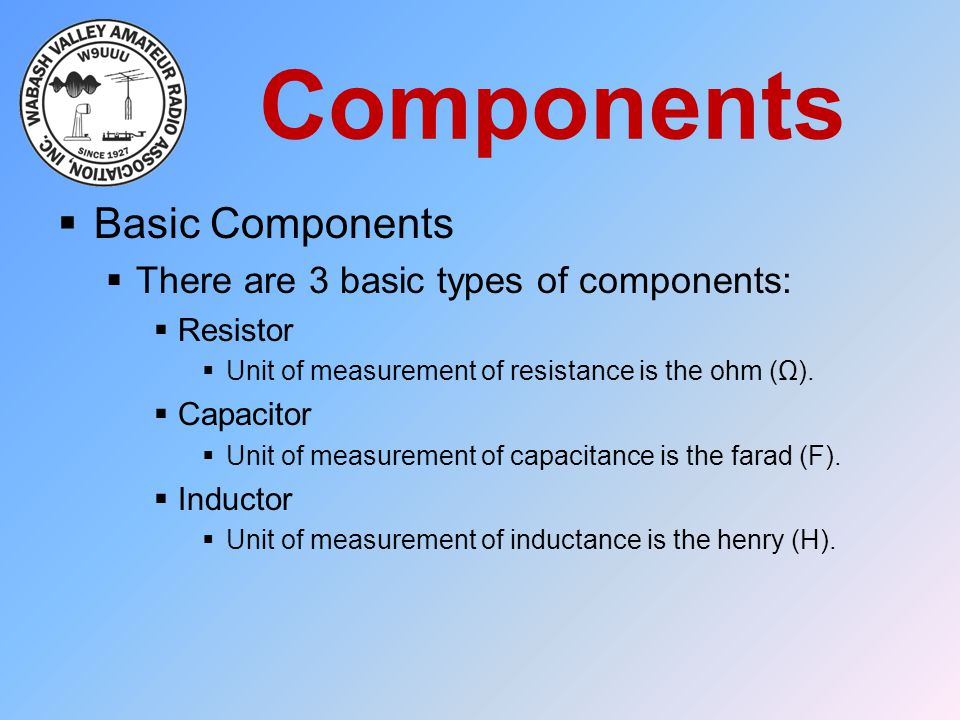 Components Basic Components There are 3 basic types of components: