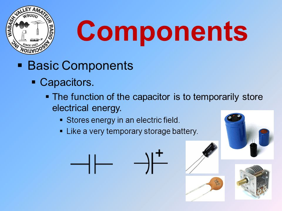 Components Basic Components Capacitors.