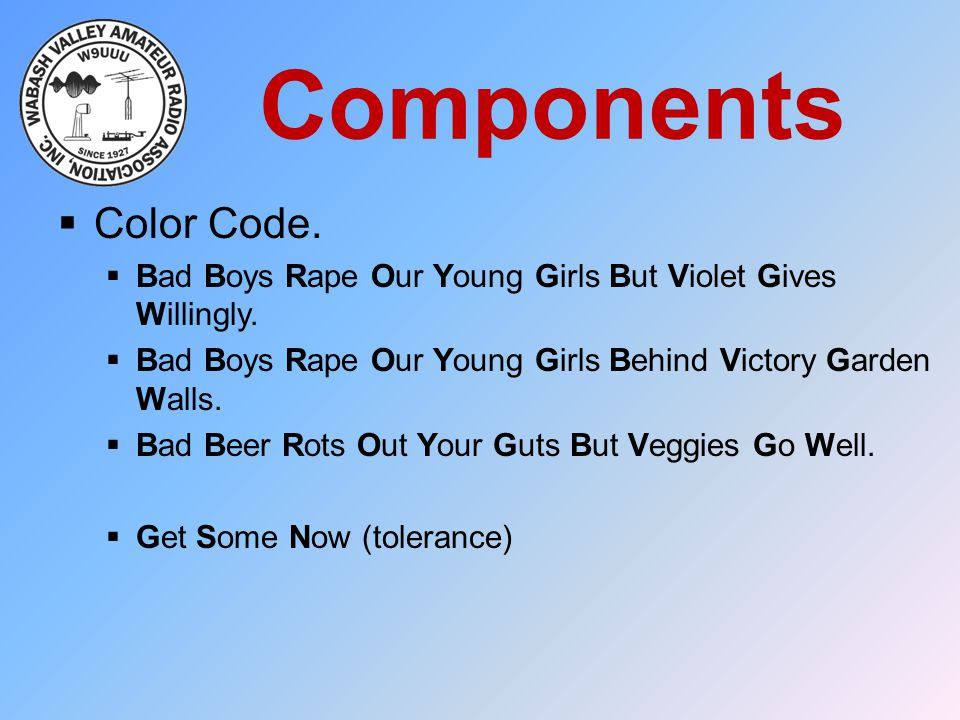 Components Color Code. Bad Boys Rape Our Young Girls But Violet Gives Willingly. Bad Boys Rape Our Young Girls Behind Victory Garden Walls.