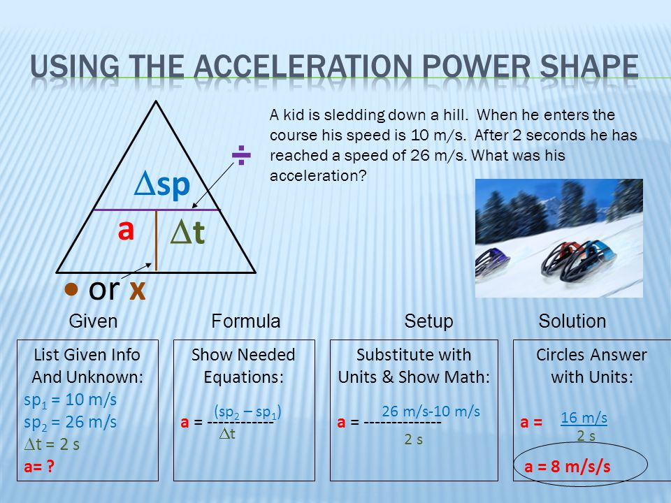 Using the Acceleration Power Shape