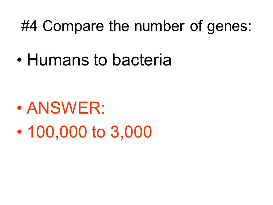 #4 Compare the number of genes: