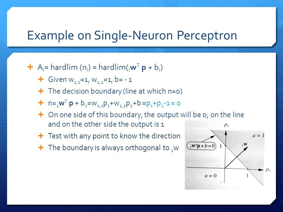Example on Single-Neuron Perceptron