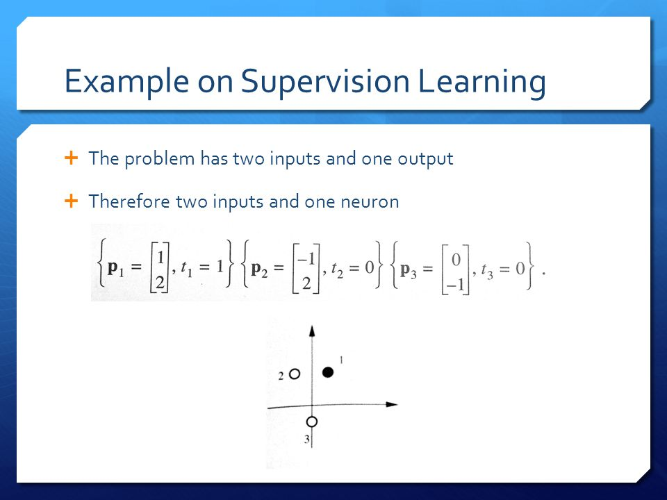 Example on Supervision Learning