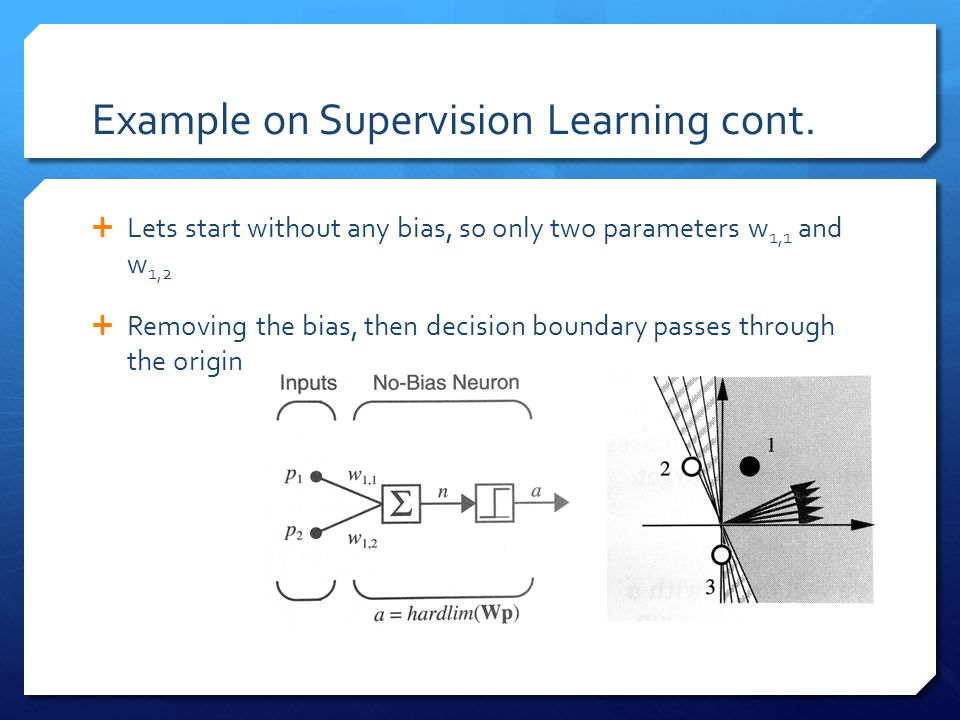 Example on Supervision Learning cont.