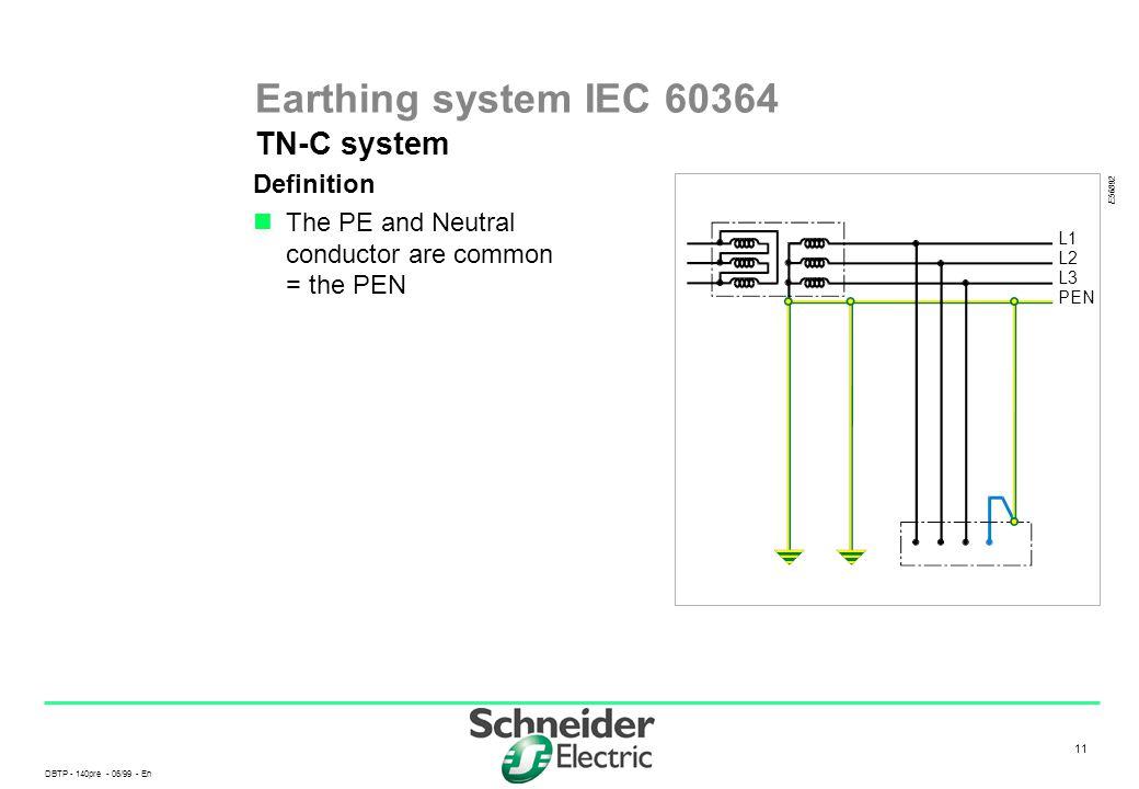 Earthing system IEC 60364 TN-C system