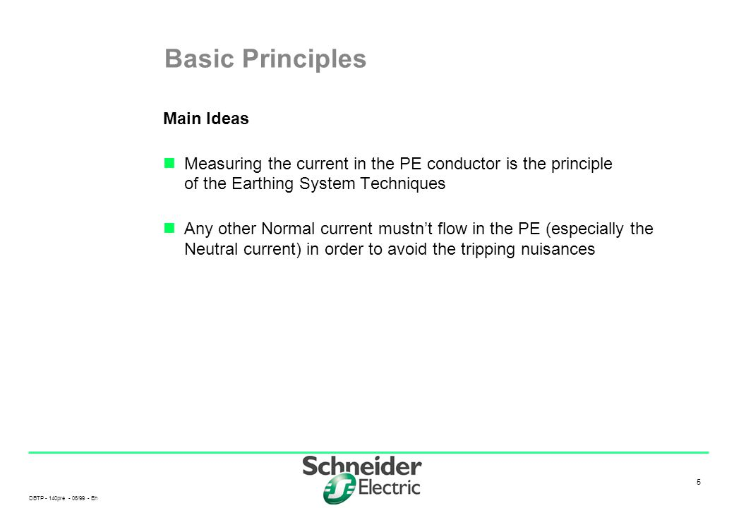 Basic Principles Main Ideas